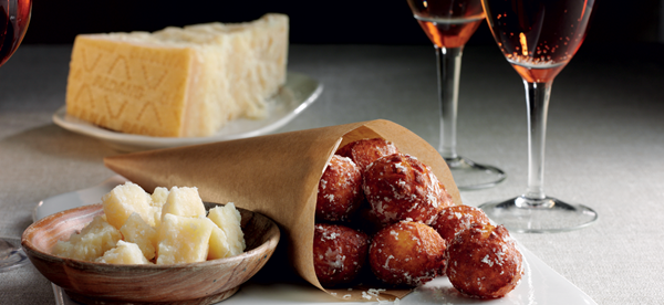 Grana padano cheese and nutmeg cheese puffs